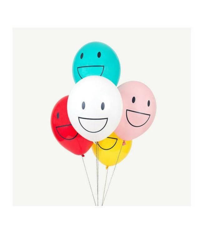 My Little Day Smileys Ballonnen -  5 stuks - 30 cm