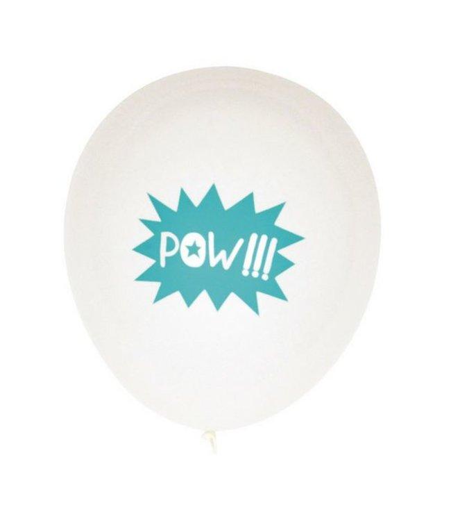 My Little Day Superhelden Ballonnen 'POW' - 5 stuks - 30 cm