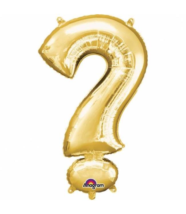 Amscan Mini Symbool Folieballon Goud (per stuk) - 33 cm
