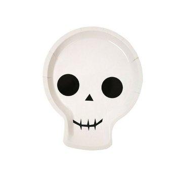 Meri Meri Skelet Borden - 12 stuks - zwart en wit