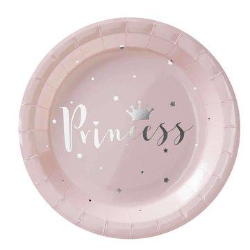 Ginger Ray Princess Perfection Lichtroze Borden - 8 stuks - 23 cm