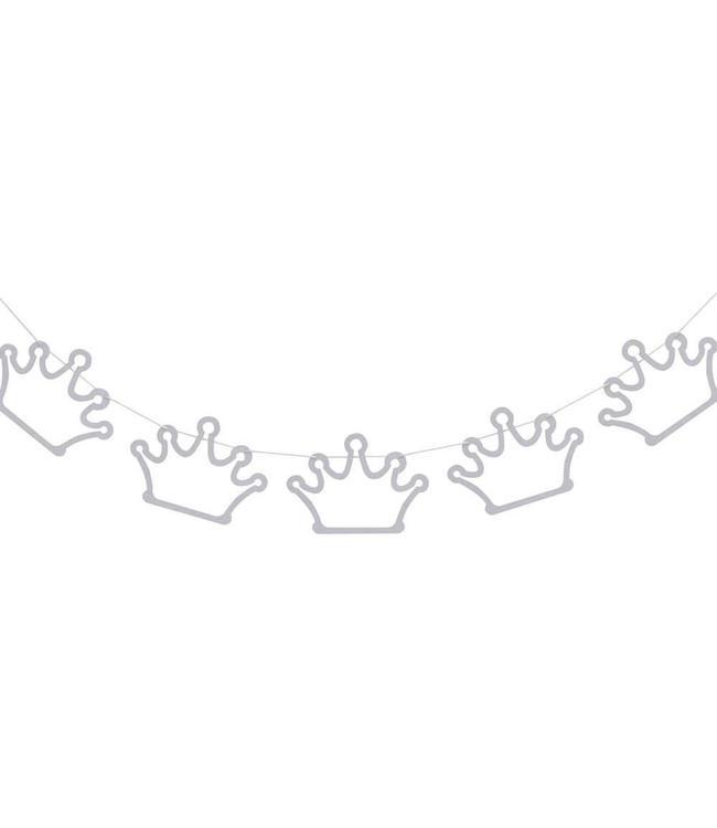 Ginger Ray Princess Perfection Zilveren Kroontjes Slinger - 2 meter