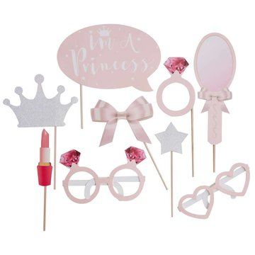 Ginger Ray Princess Perfection Photo Props - 9 stuks
