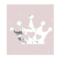 Ginger Ray Princess Perfection Lichtroze Servetten Met Kroontje Opdruk - 16 stuks