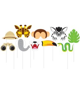 Creative Party Safari Photo Props - 10 stuks