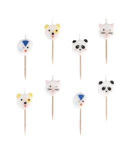My Little Day Beestenboel (Mini Animals) Kaarsjes - 8 stuks