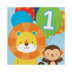 Creative Party 1 Jaar Safari Fun Jongen Servetten - 16 stuks