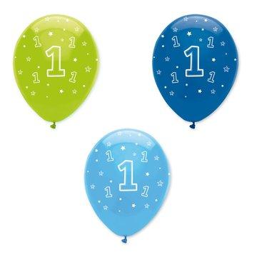 Creative Party 1 Jaar Ballonnen Jongen - 6 stuks - 30 cm