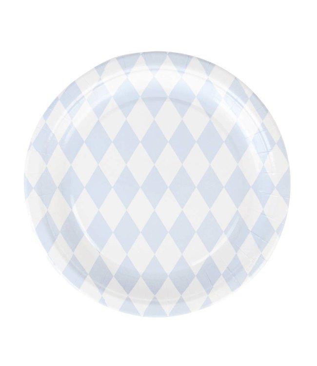 My Little Day Diamant Ruit Borden Lichtblauw - 8 stuks - 23 cm