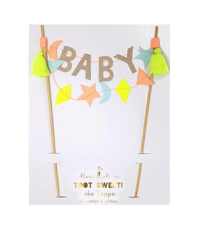 Meri Meri Cake Topper 'Baby' met tassels