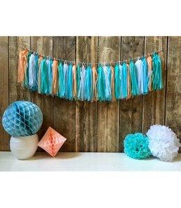 Haza Tassels Slinger Pastel (DIY) - 30 tassels - 5 meter touw