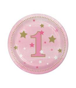 Creative Party One Little Star Girl Bordjes - 8 stuks - 18 cm