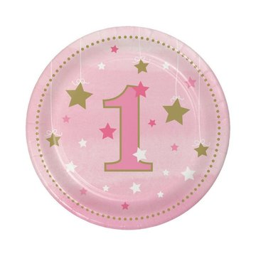 Creative Party One Little Star Girl Bordjes - 8 stuks - 18 cm