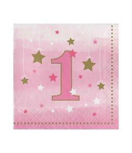 Creative Party One Little Star Girl Servetten - 16 stuks