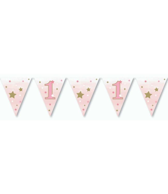 Creative Party One Little Star Girl Vlaggenlijn - 3,7 meter