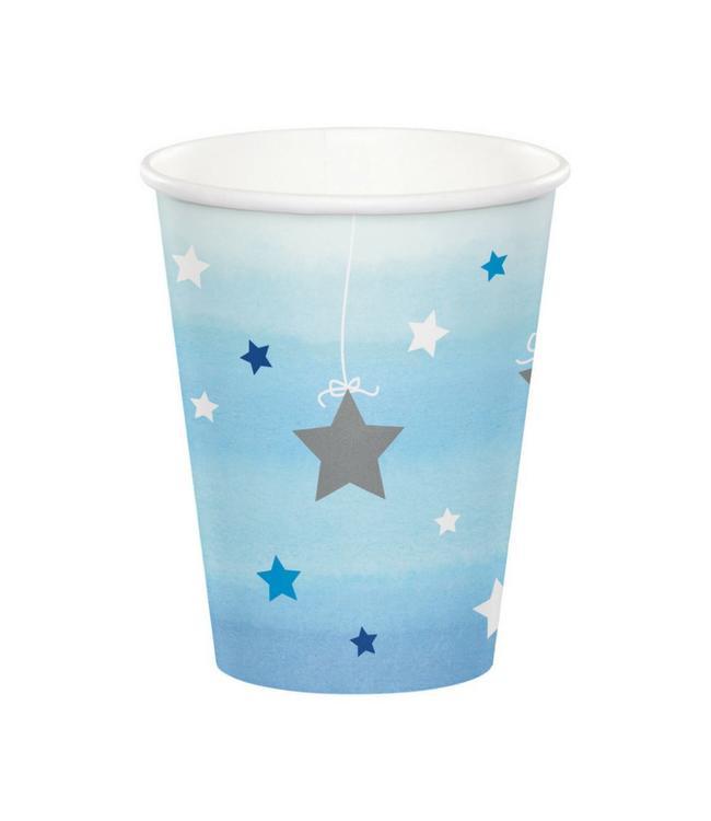 Creative Party One Little Star Boy Bekers - 8 stuks