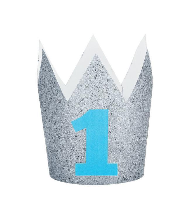 Creative Party Kroontje '1' Zilver - 1 jaar