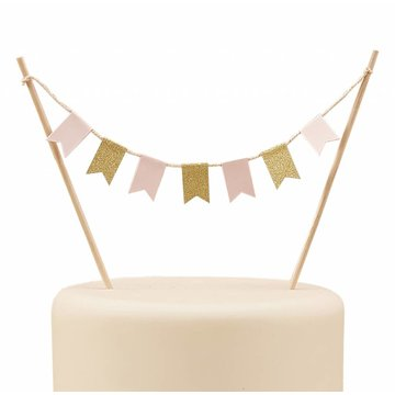 Ginger Ray Cake Topper Roze & Goud