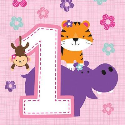 1 Jaar Safari Fun Meisje