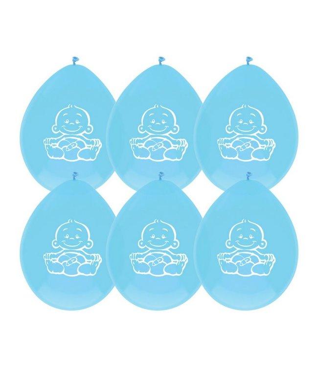 Haza Geboorte Ballonnen Jongen - 6 stuks - blauw
