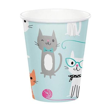 Creative Party Purr-fect Party Bekers - 8 stuks - Karton
