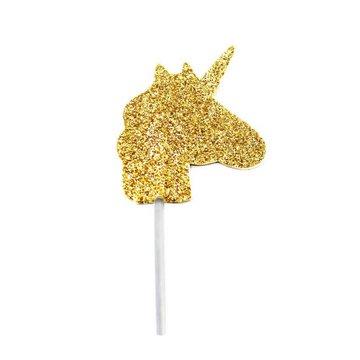Creative Party Unicorn Cupcake Toppers - 12 stuks - goud