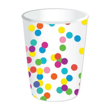 Haza Confetti Party Bekers - 8 stuks
