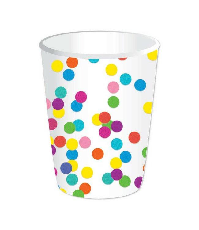 Haza Confetti Party Bekers - 8 stuks
