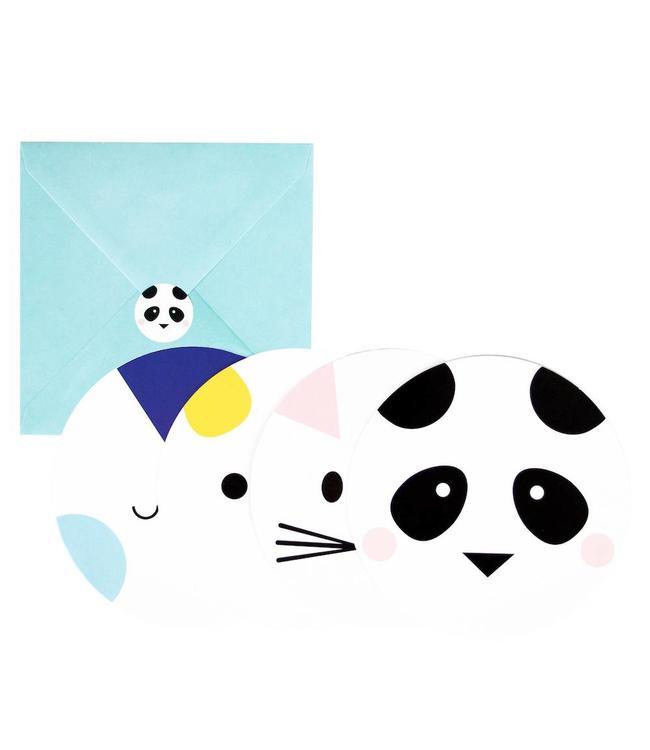 My Little Day Mini Animals Uitnodigingen - 8 stuks