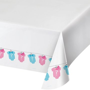 Creative Party Gender Reveal Tafelkleed - 1,37 x 2,74 m - plastic