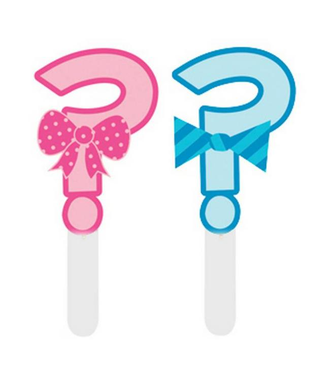 Creative Party Gender Reveal Cupcake Toppers - 12 stuks - 6,5 cm