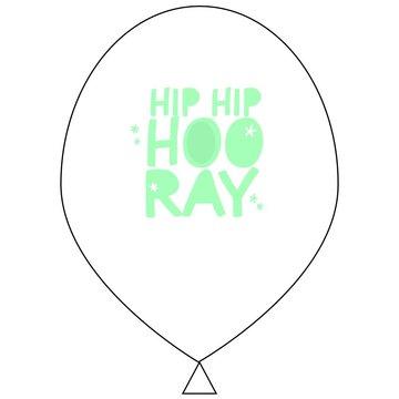 The Cherry on Top Ballonnen Hip Hip Hooray - 6 stuks - 33 cm