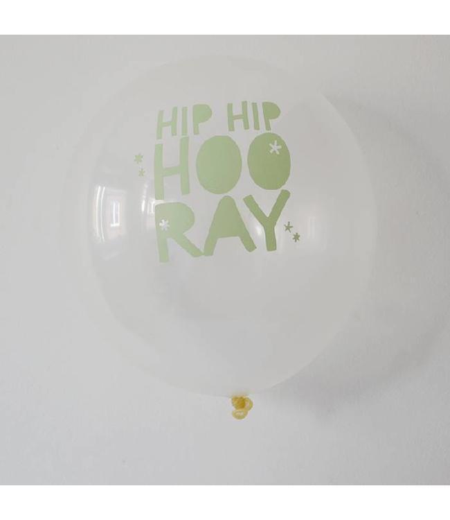 TCOT Ballonnen Hip Hip Hooray - 6 stuks - 33 cm