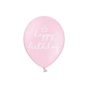 Partydeco Roze Ballonnen Kroontje - 6 stuks - 30 cm