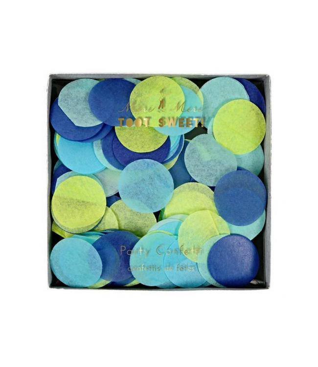 Meri Meri Blue Party Confetti - 3 kleuren - tissue Confetti