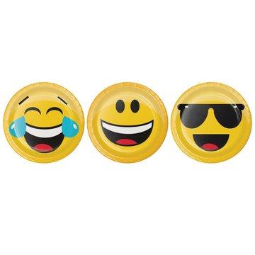 Creative Party Emoji Bordjes - 8 stuks - 18 cm