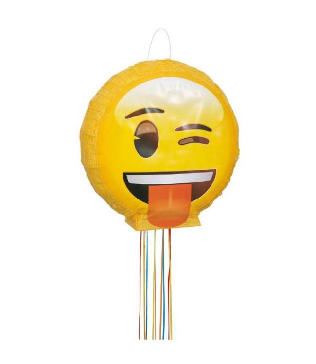 Unique Emoji 3D Piñata - pull piñata - 40 x 40 cm