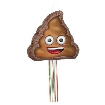 Unique Emoji Poop Piñata - pull piñata - 47 x 39 cm
