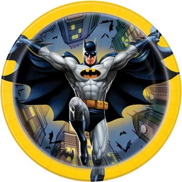 Unique Batman bordjes - 8 stuks - 18 cm