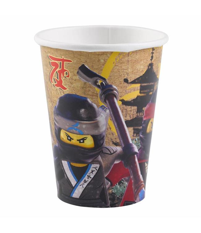 Amscan LEGO Ninjago bekers - 8 stuks