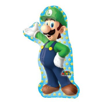 Amscan Luigi Supershape folieballon - 50 x 96 cm
