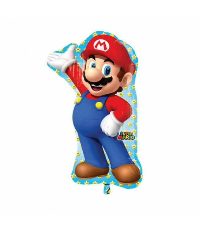Amscan Super Mario Supershape folieballon - 55 x 83 cm