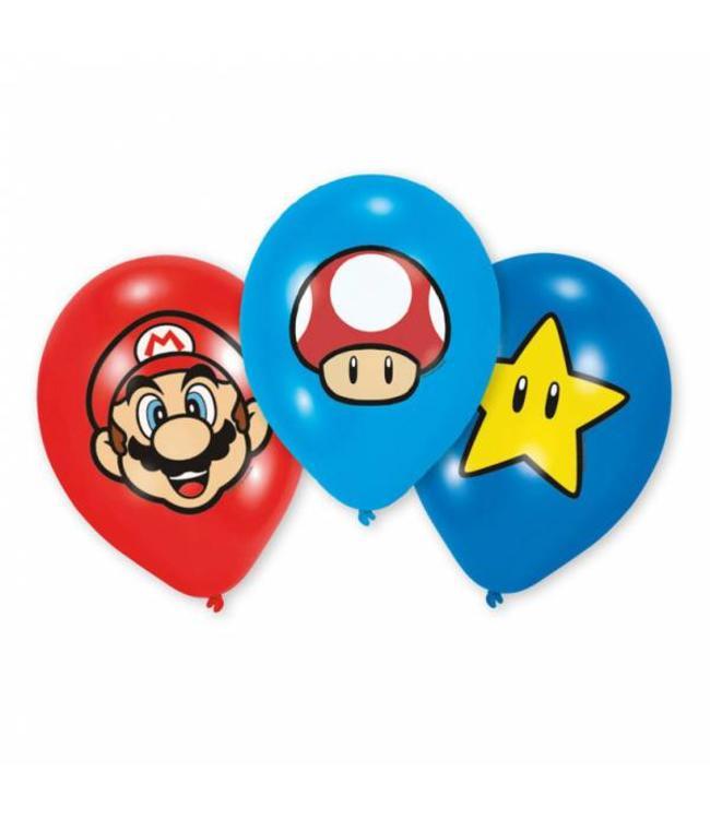 Amscan Super Mario Ballonnen - 6 stuks - 3 designs