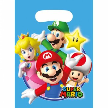 Amscan Super Mario Uitdeelzakjes - 8 stuks