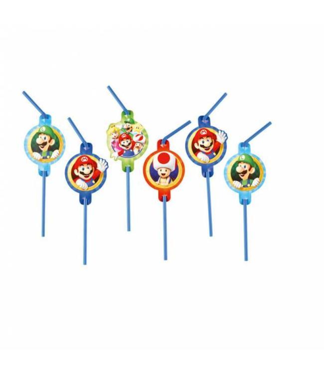 Amscan Super Mario Rietjes - 8 stuks