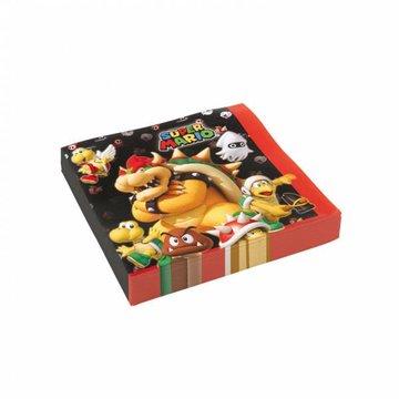 Amscan Super Mario Servetten - 20 stuks