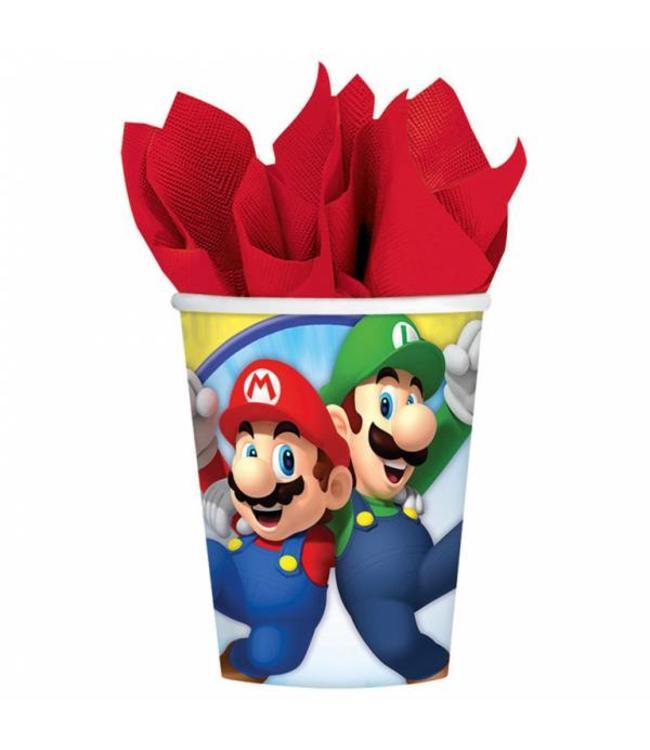 Amscan Super Mario Bekers - 8 stuks