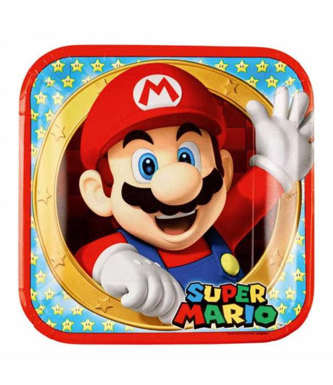 Amscan Super Mario Borden - 8 stuks
