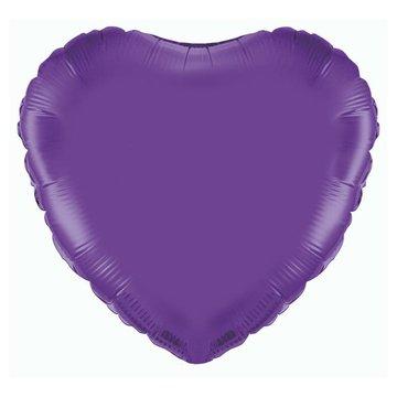 Unique Folieballon Hart Paars - 46 cm