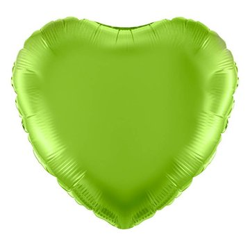 Unique Folieballon Hart Lichtgroen - 46 cm